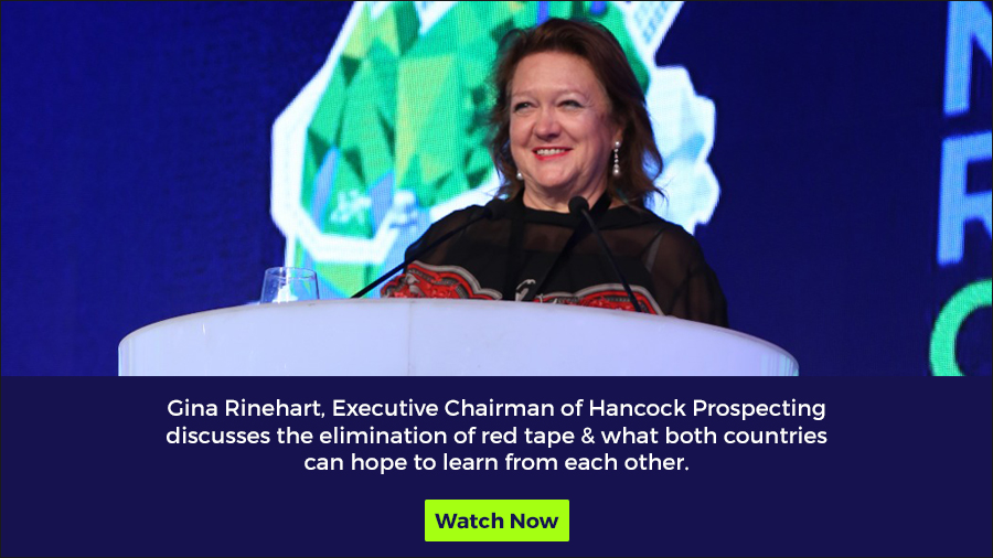 Removing red tape and laying out the red carpet - Gina Rinehart